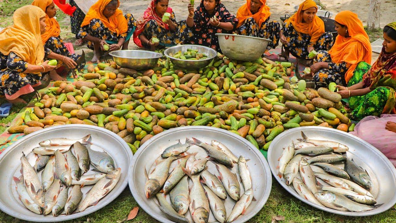 印度人如何吃黄瓜 ? 130公斤黄瓜35公斤鲤鱼看看她们怎么吃法!