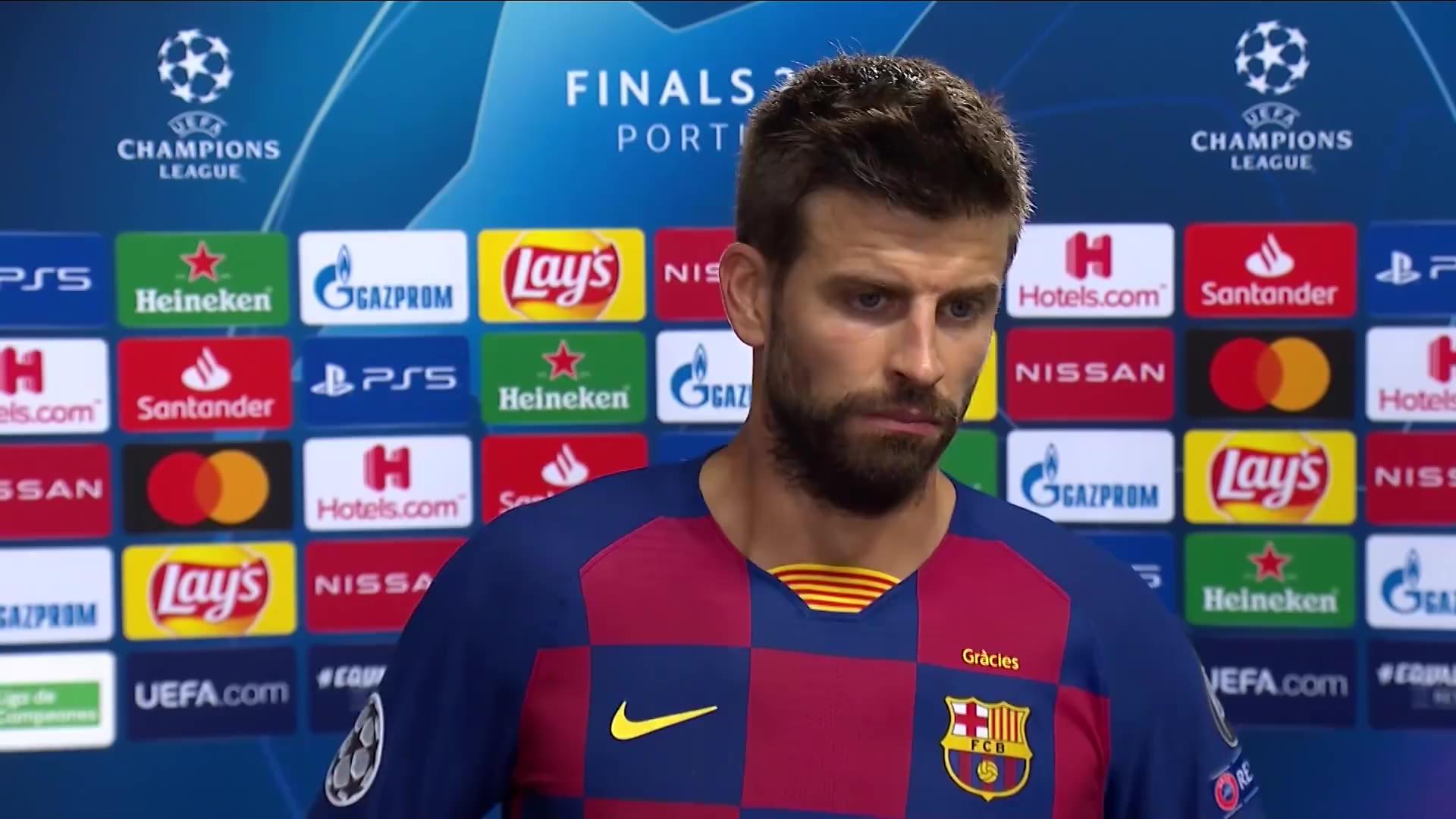 赛后采访——皮克:如果球队需要 我会第一个离队