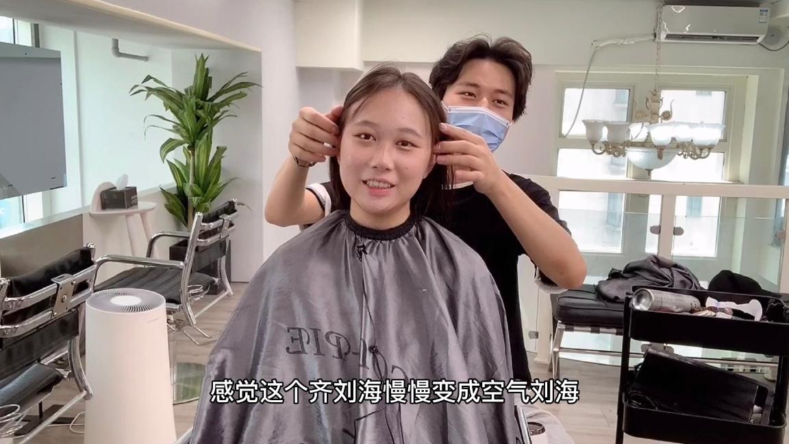 小姐姐头发日渐稀疏,想要烫头增加发量,改造后变身日系小姐姐
