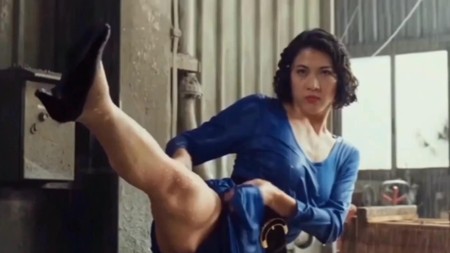 动作片中10位强悍打女,拳拳到肉场面,个个都是狠角色