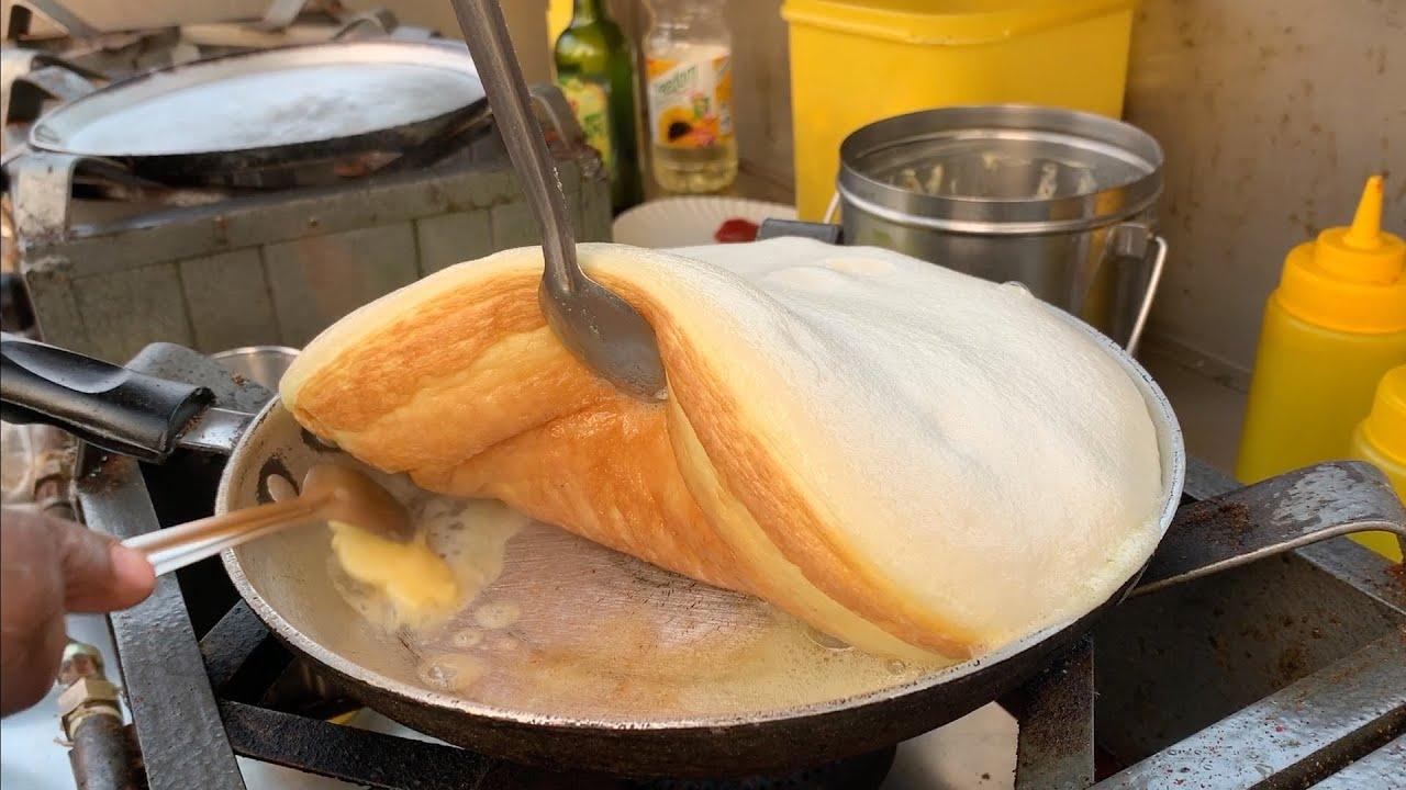 印度街边美食,蓬松煎蛋卷,操作简单又方便,可以在家给孩子做!