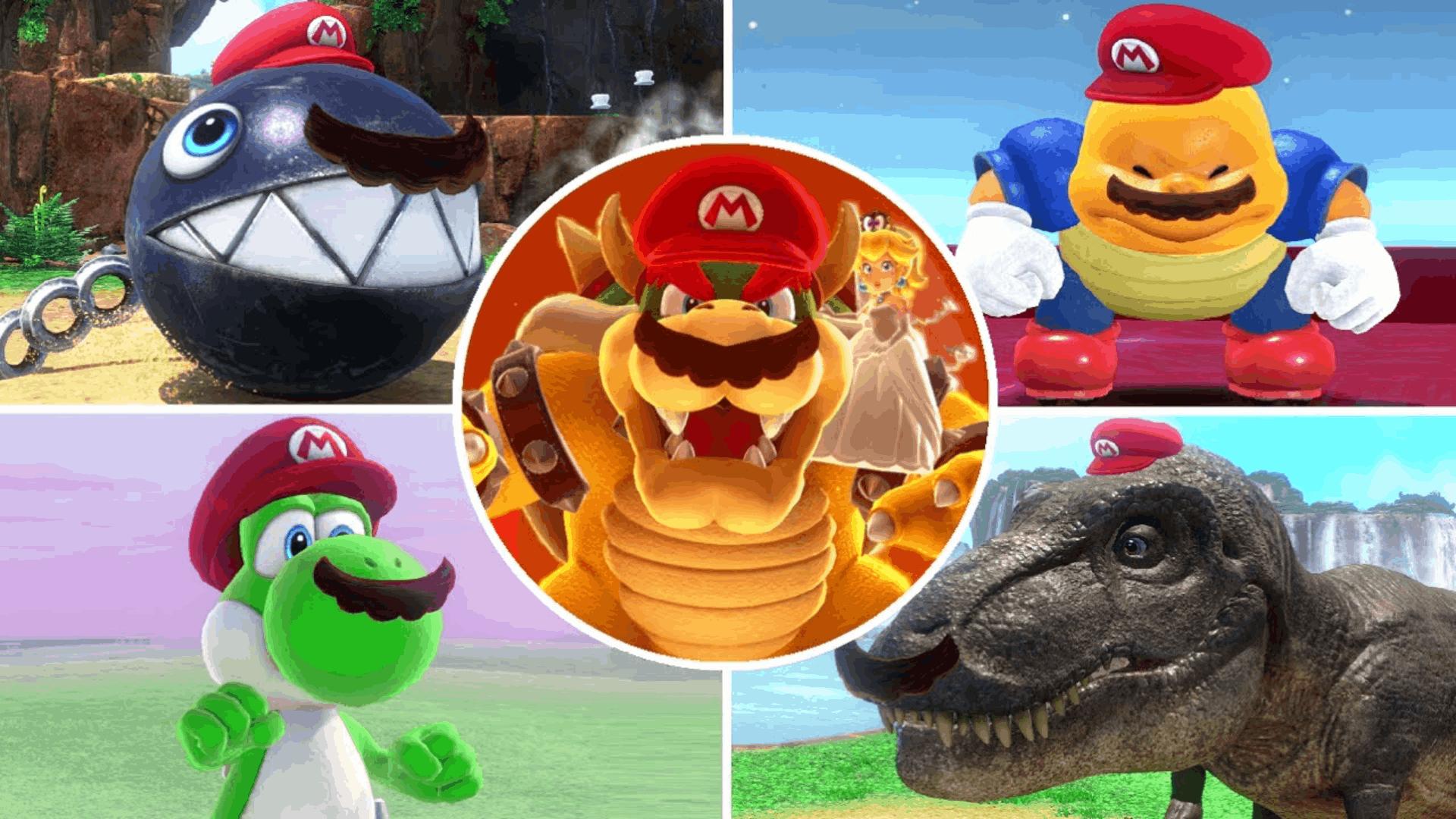 《超级马里奥:奥德赛》马里奥的所有帽子附身形态!