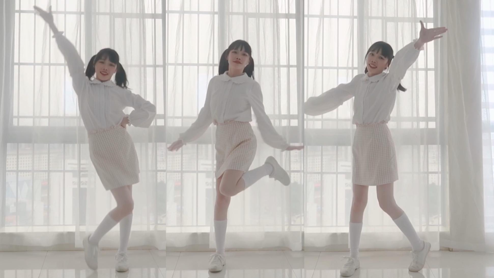 【宝贤】双马尾小短腿 快乐合成器舞蹈翻跳