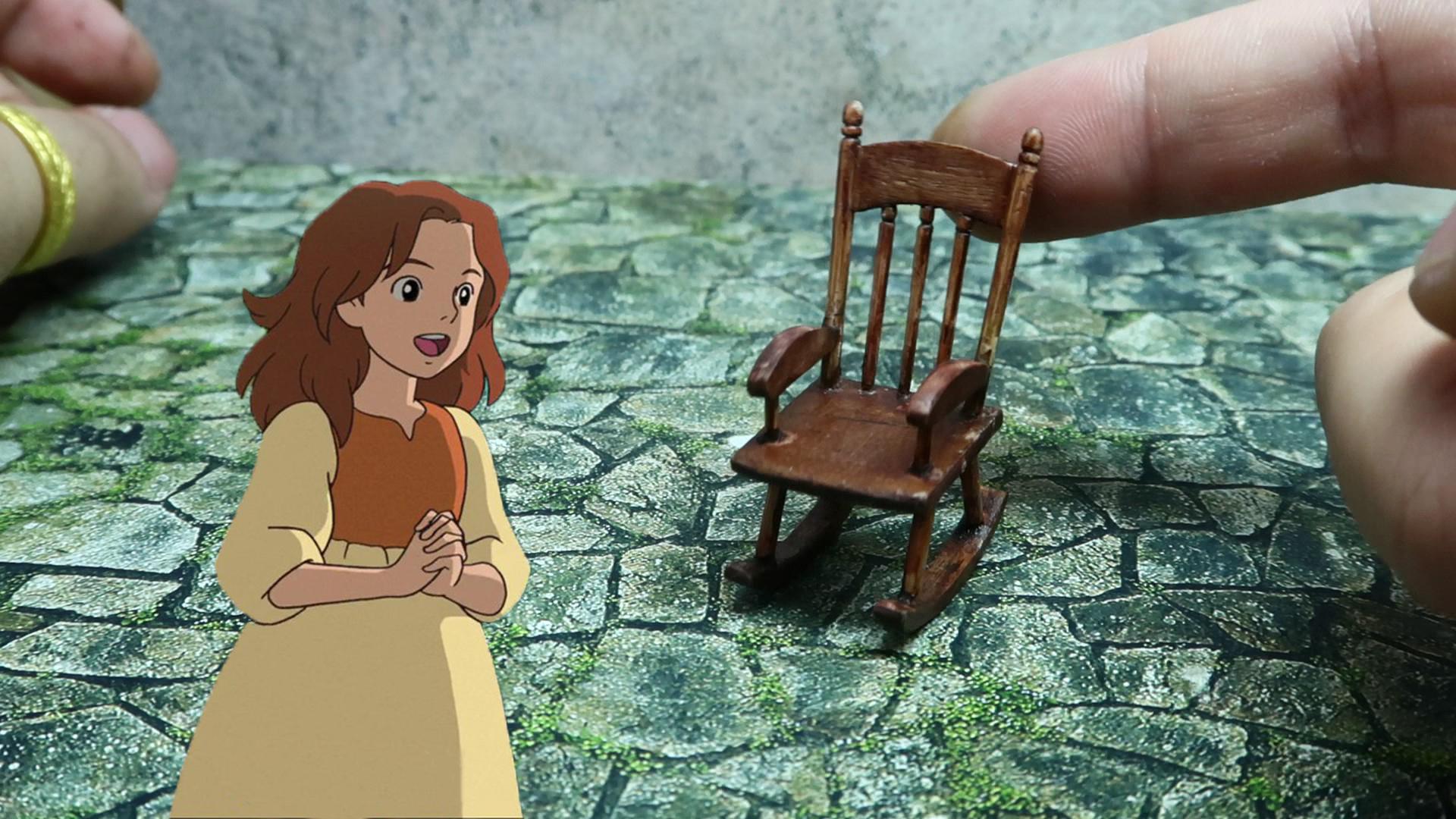 【微缩手工】用废木板和牙签还原艾莉缇的小摇椅