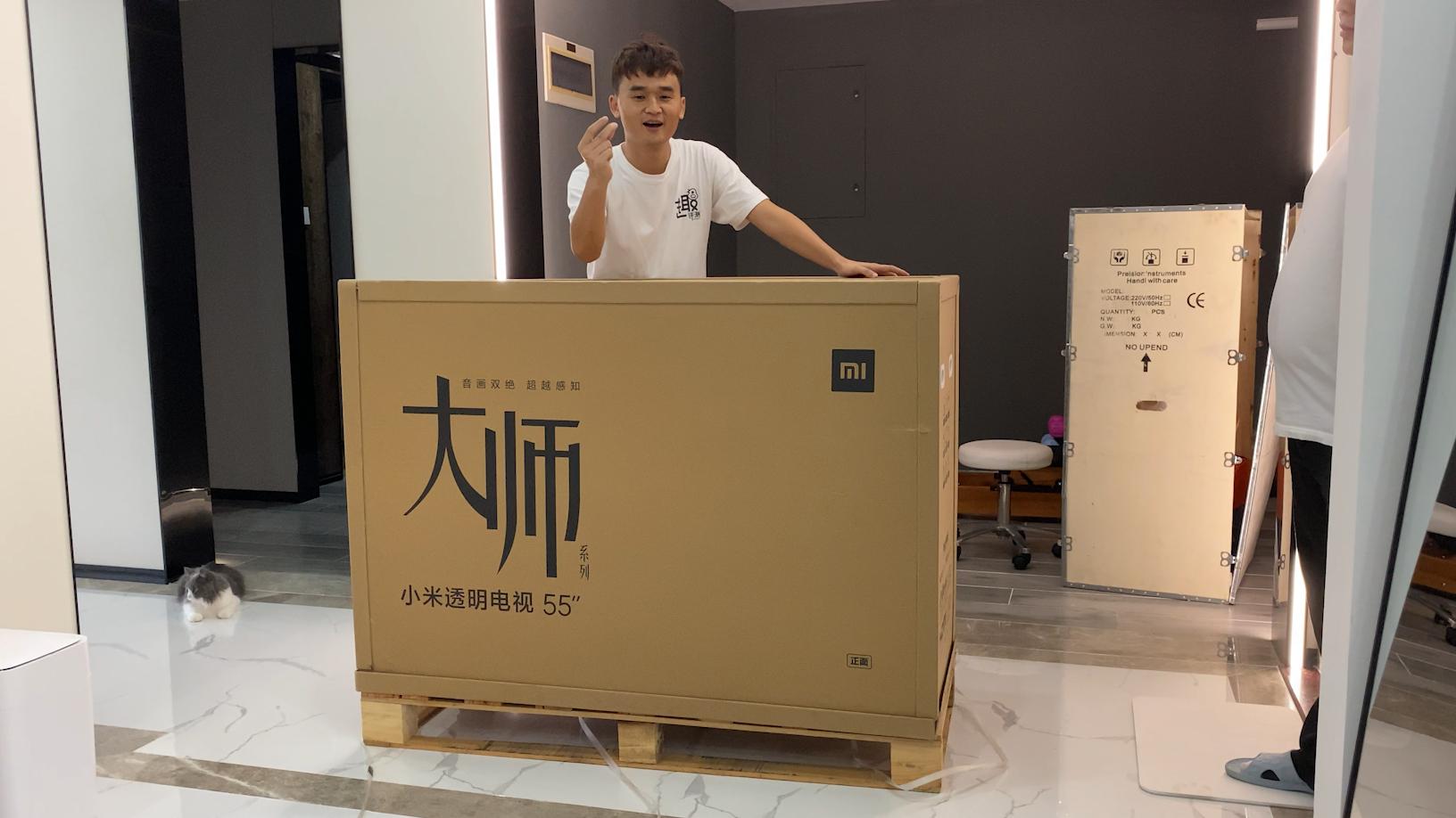 49999 元的小米大师透明电视真机开箱!