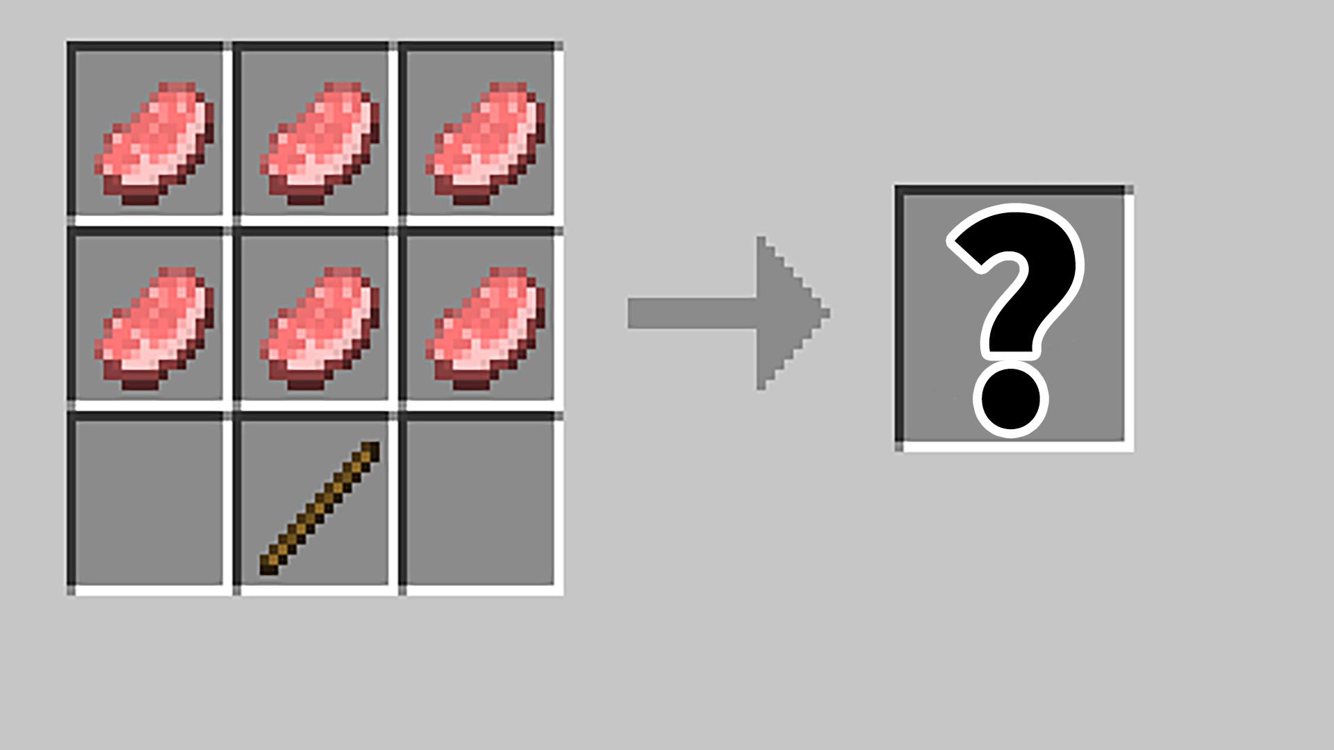 MC我的世界:玩了9年MC现在才知道!原来猪肉是做神器的必须品?