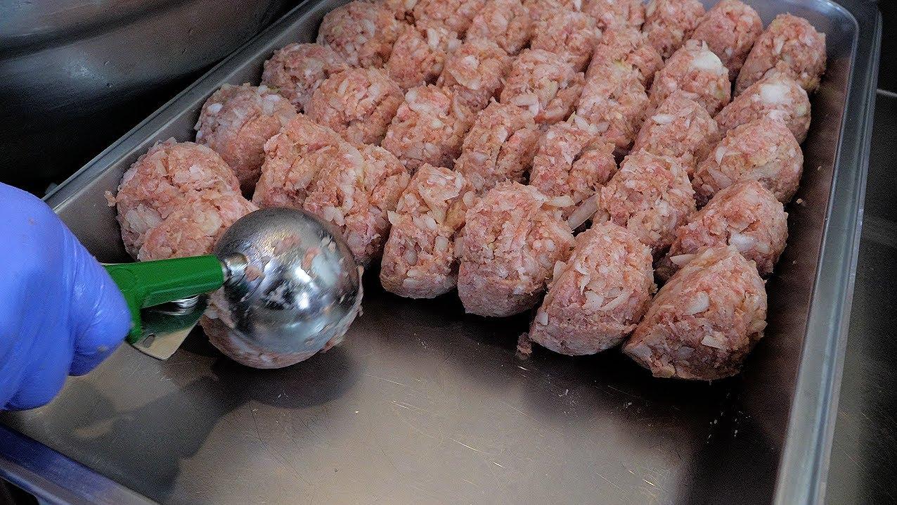 猪肉丸子这样炸才好吃,外酥里软越嚼越香,味道超棒,做法超简单!