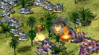 【红色警戒】遇到一个憨批:交战把树点了,幻影坦克全留下了