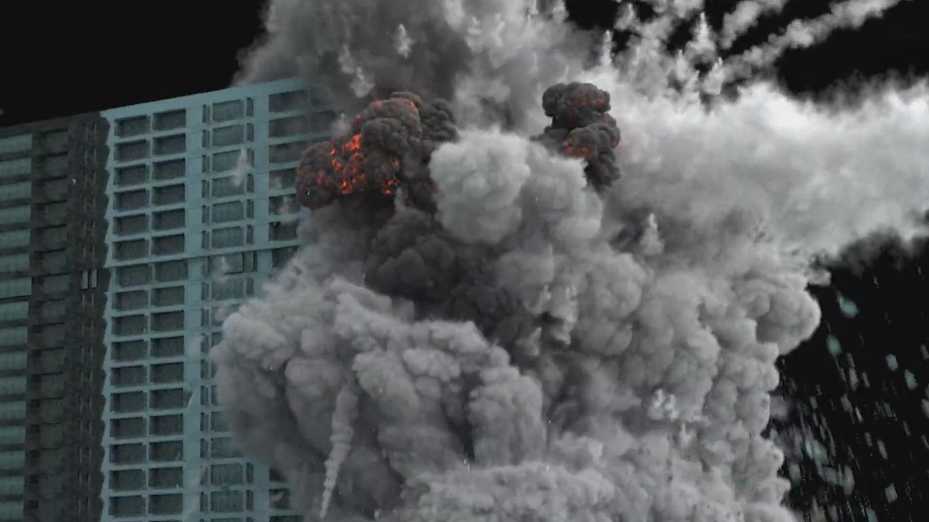 【3Dmax】3dsmax 大楼爆炸破碎完整制作训练教程(中英双字)