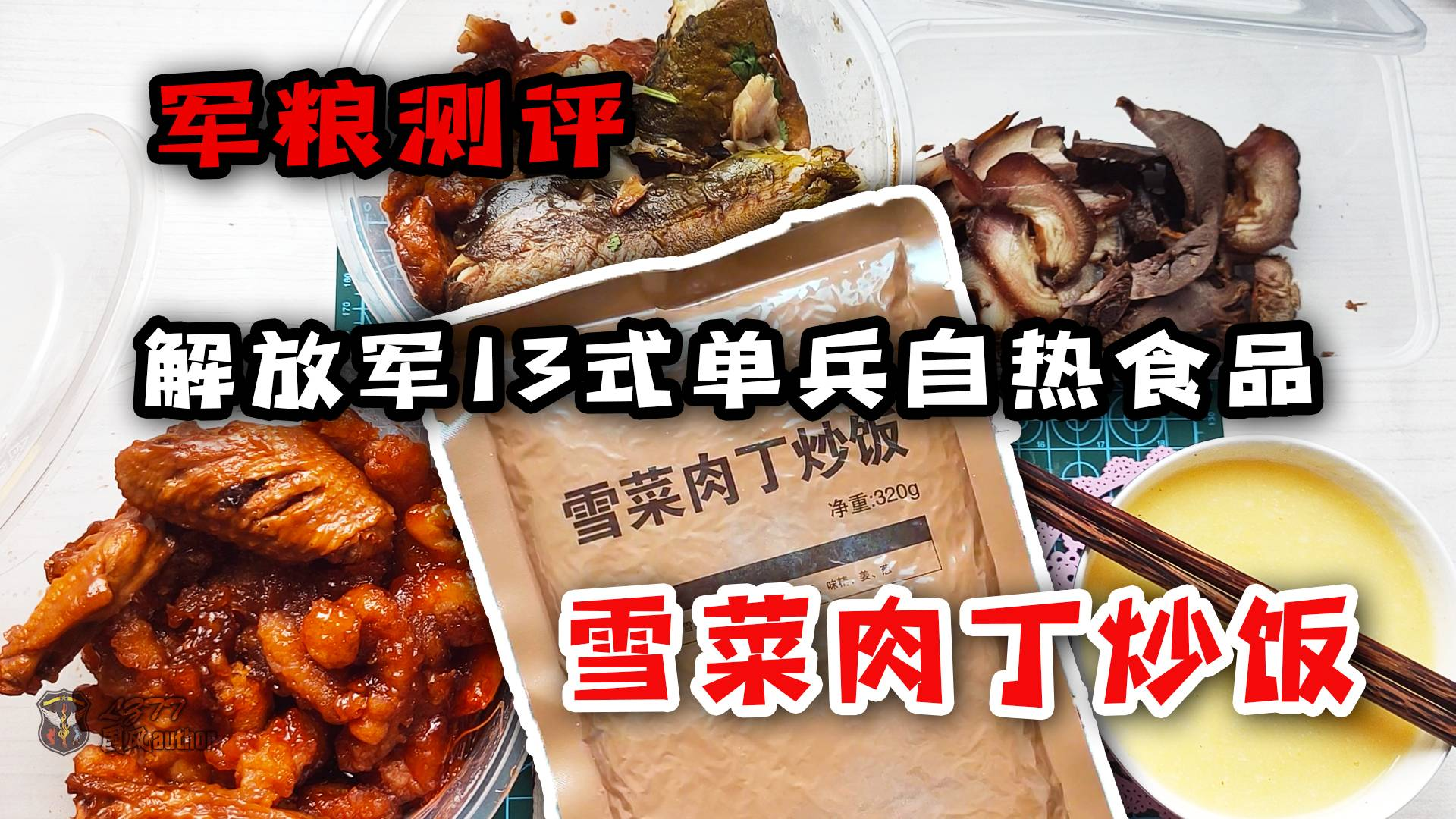 【军粮测评】解放军13单兵自热食品餐谱2,雪菜肉丁炒饭试吃![vlog109]