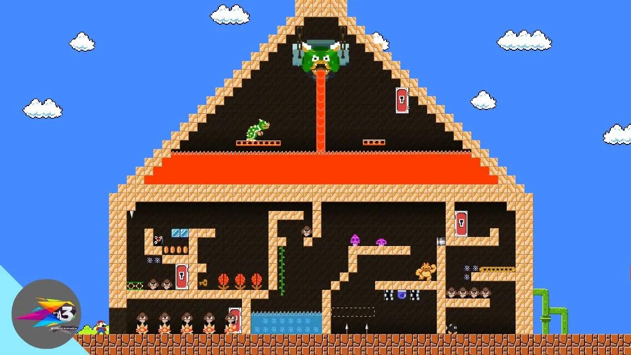 超级玛丽:马里奥超搞笑动画,大叔的金字塔大挑战!