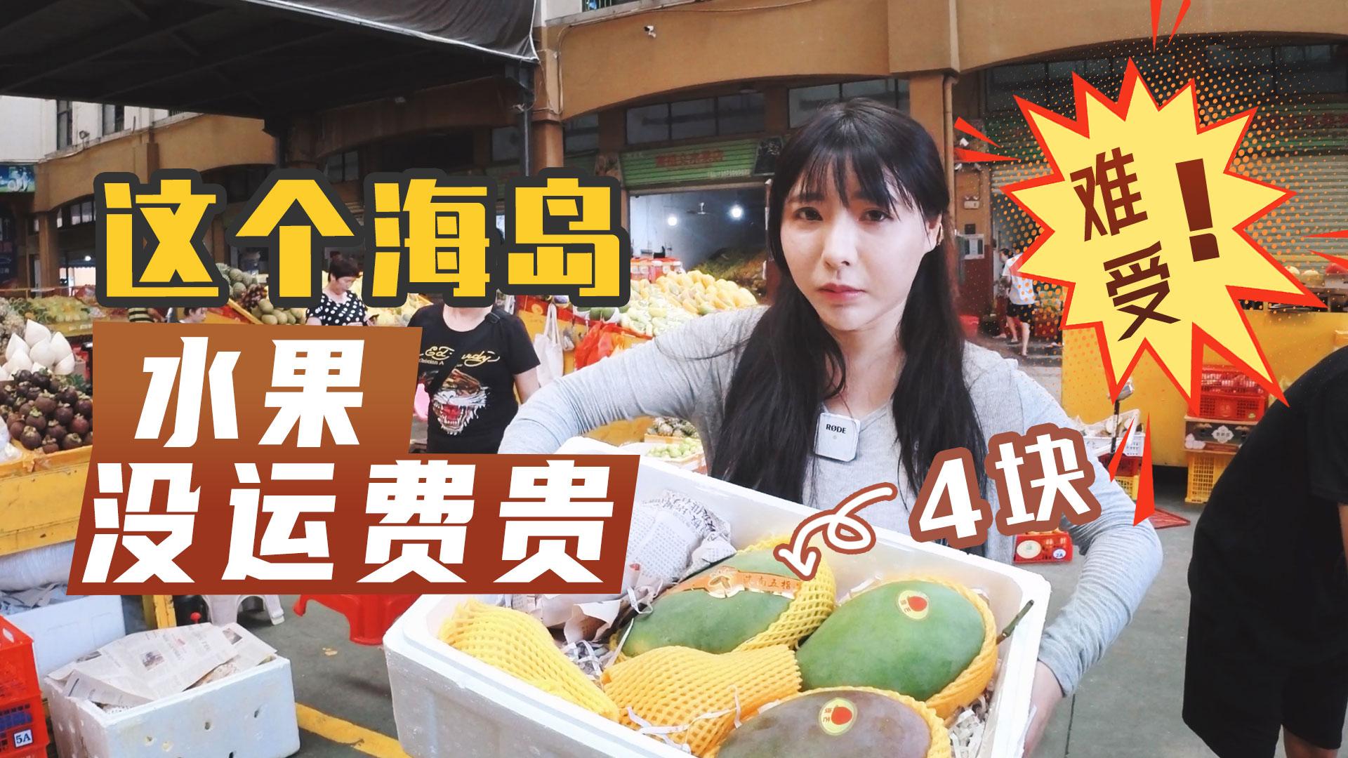 Vlog:逛三亚最便宜的水果市场,芒果一斤才4块运费就要8块,吃饱喝足别想着寄送了