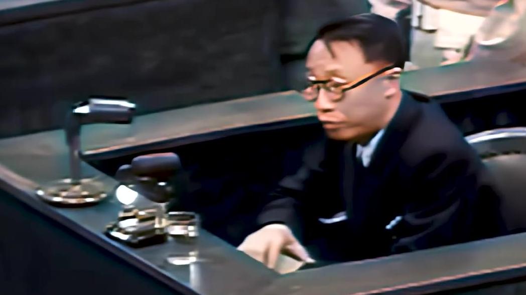 【彩色历史】1946年中国末代皇帝溥仪在日本远东国际军事法庭出庭作证