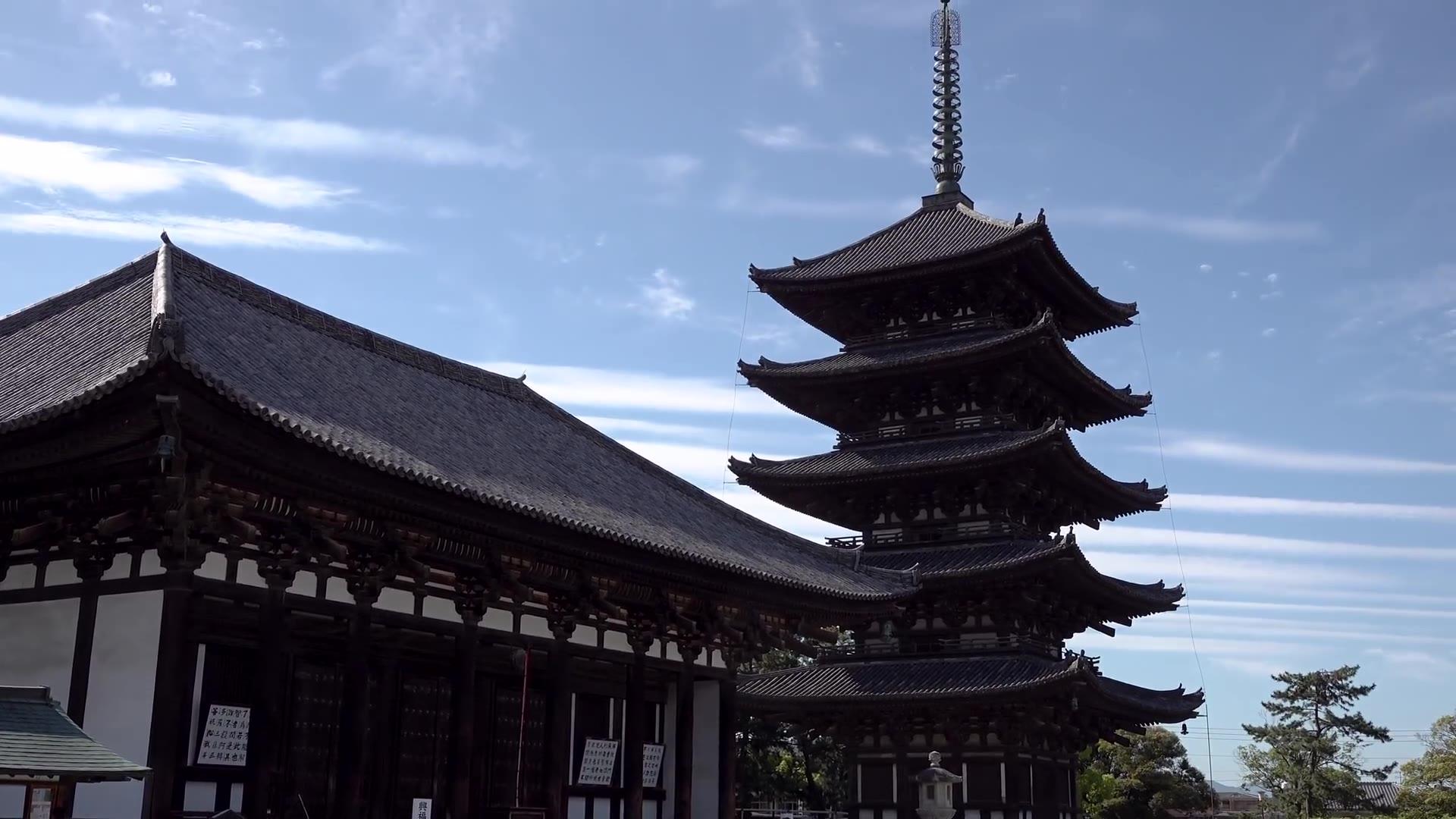 【超清日本】大华严寺,奈良县,日本