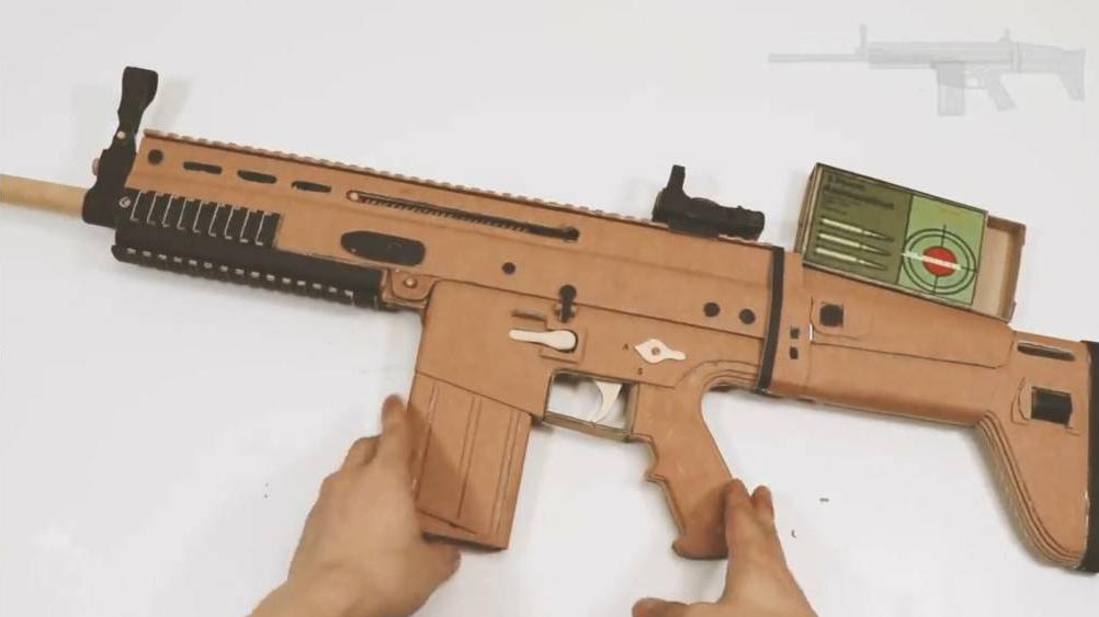 DIY纸板制作高精度组装可以拆卸纸板枪wgog912