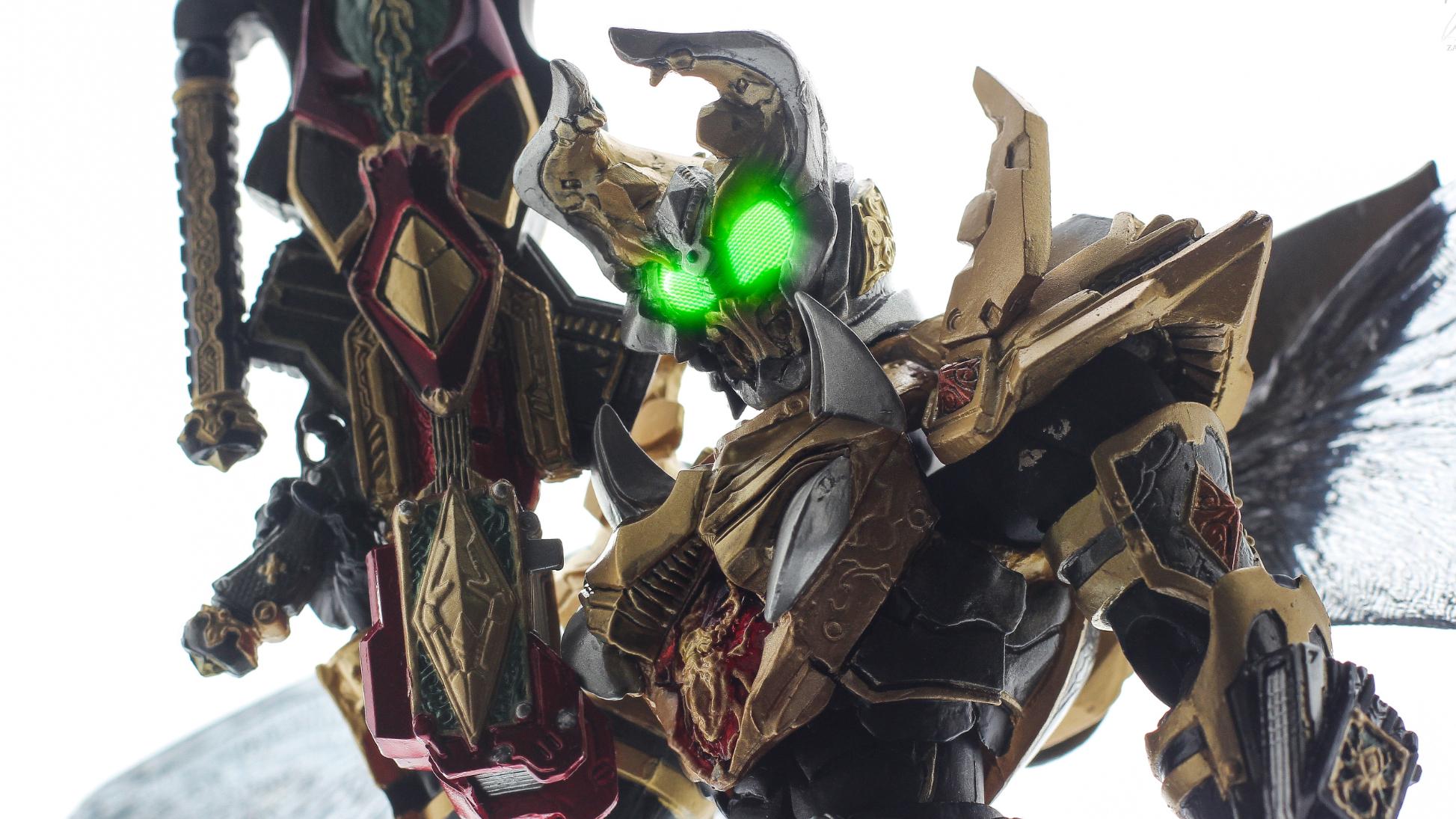 『旧物新评』SIC 假面骑士Garren King Form 帝王形态 Hobby JAPAN限定