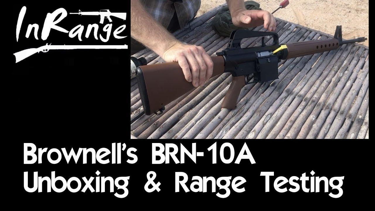 【InRange/双语】Brownells BRN-10A--开箱和实弹射击测试