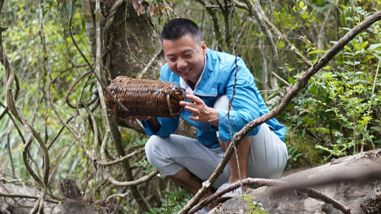 华农兄弟:放几个地笼,装点螃蟹来吃,顺便摘点板栗