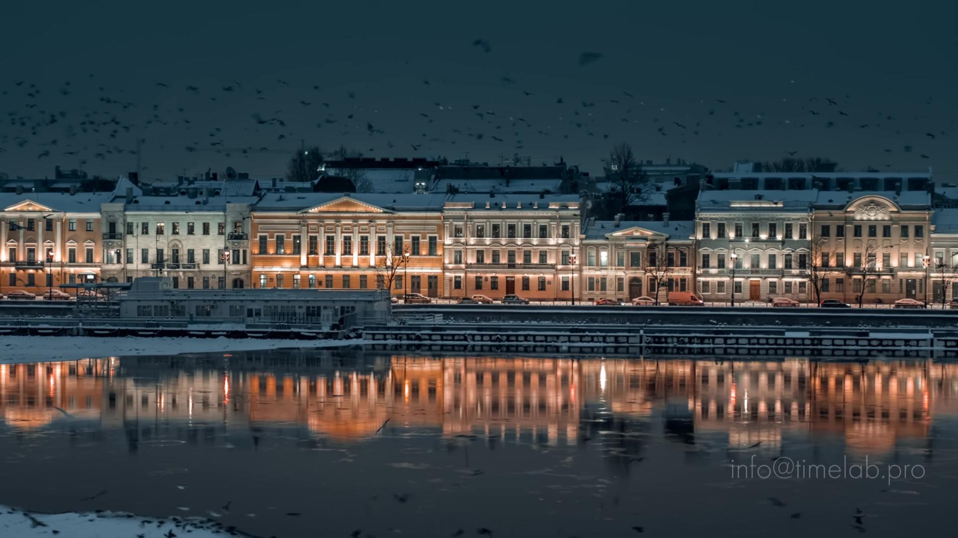 【放松】【冬天 俄罗斯 圣彼得堡】【1080P】