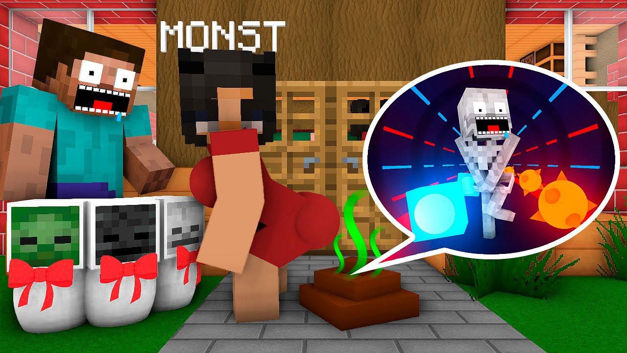 《我的世界怪物学院》动画:老师带同学游玩3D版VR节奏大师