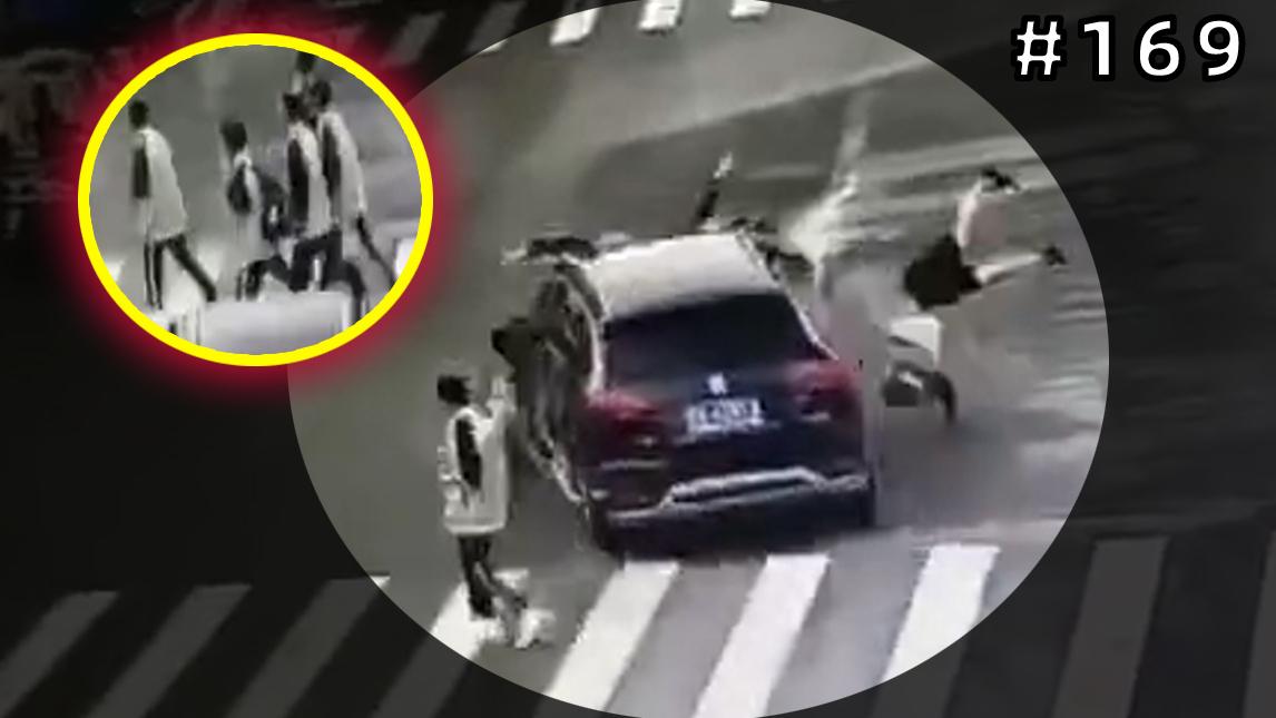 越野车撞飞4名学生后逃逸!3人轻伤1人重伤!【#169】