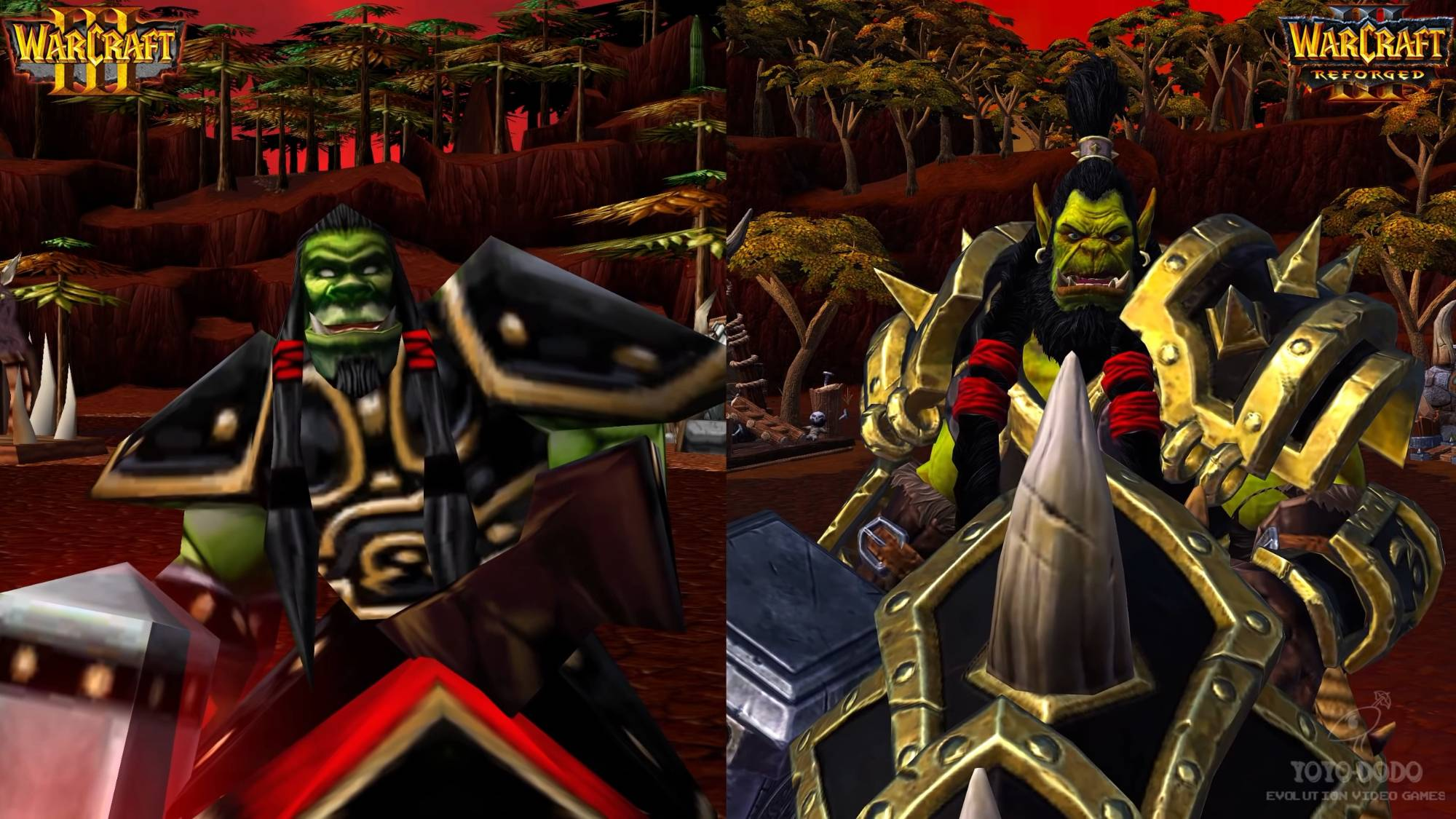 魔兽争霸3重制版-所有兽族原始版和重置版比较