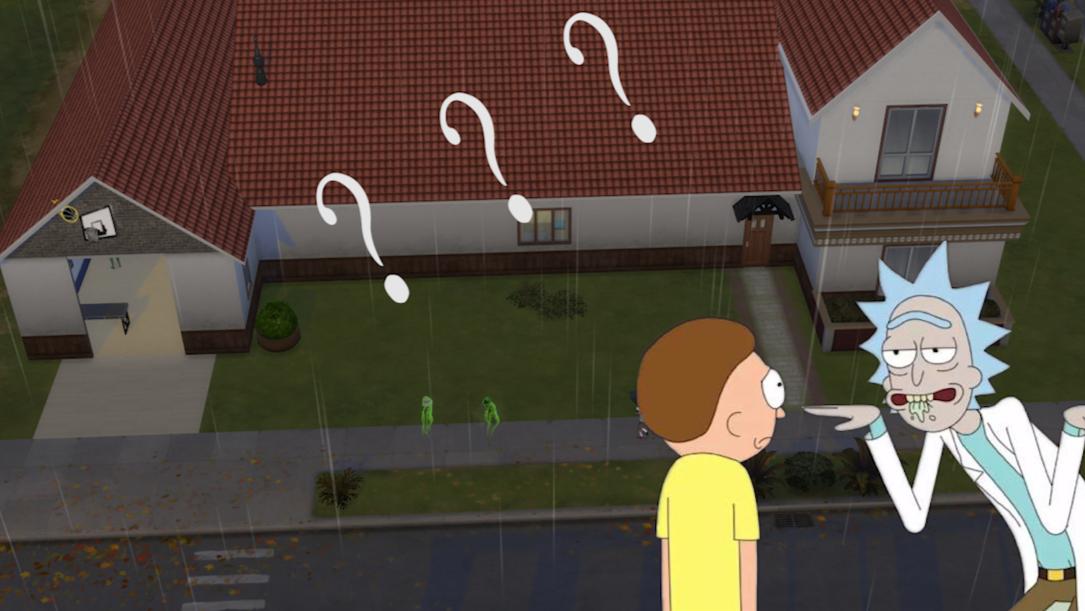 尝试用模拟人生还原瑞克一家的房子