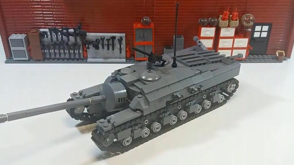 乐高MOC教程 T28重型坦克