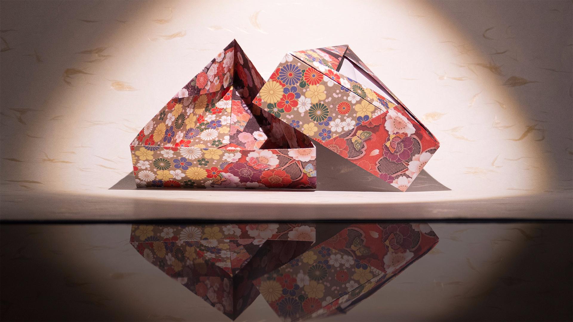 【折纸】又双叒叕到了中秋节,这次是折三角形月饼盒