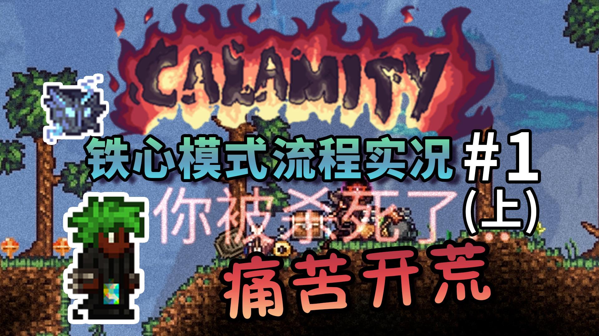 【丁菊长】痛苦的开荒【泰拉瑞亚 terraria】灾厄Calamity铁心模式流程实况解说第1期上