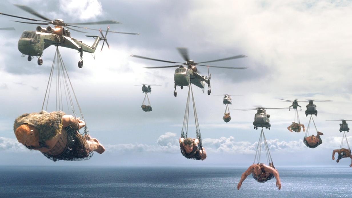 几十米高的巨人以人类为食,人类不服,派出了现代化军队!速看奇幻电影《圆梦巨人》