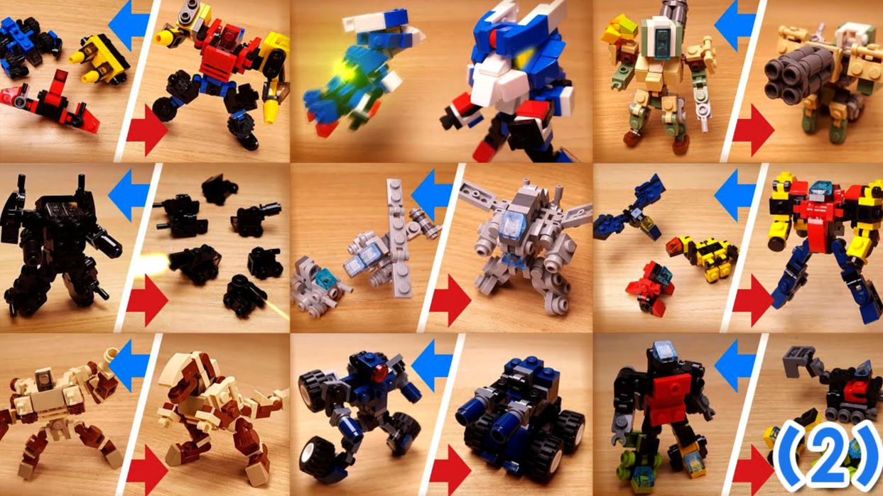 56个乐高迷你机器人,创意定格动画(二)