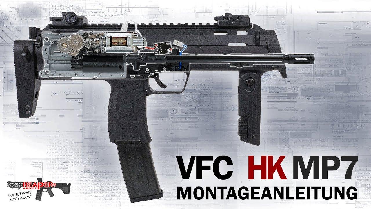 从零件开始组装一把 VFC MP7(德语)