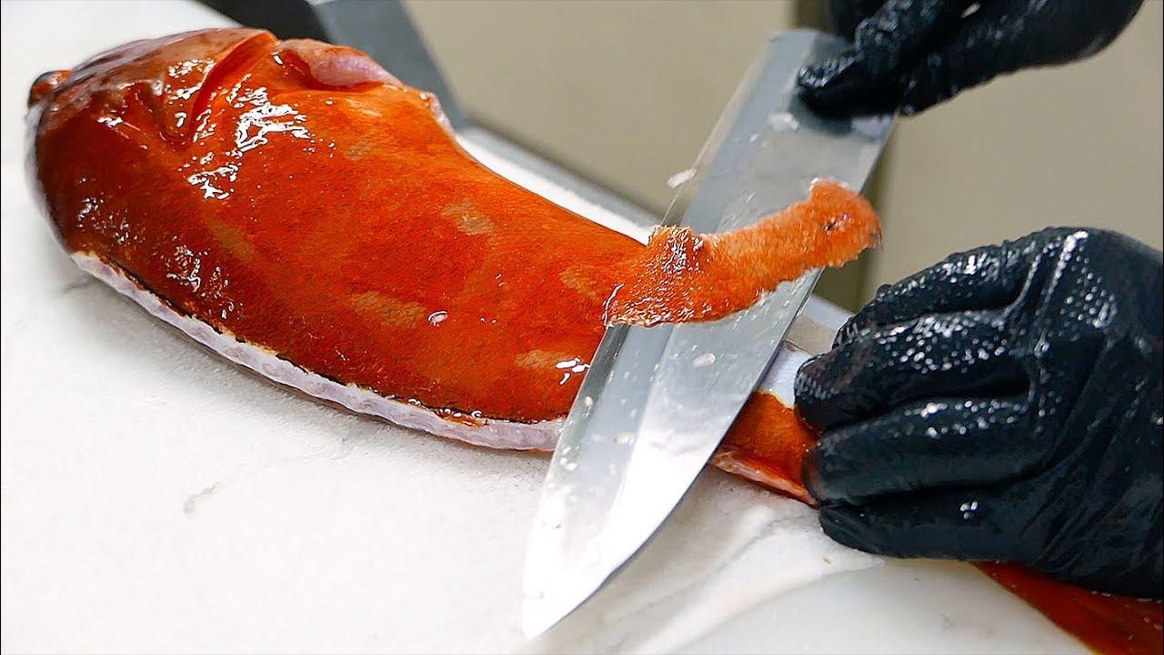 日本美食 - 巨大红石斑鱼 鲭鱼 寿司 照寿司 日本