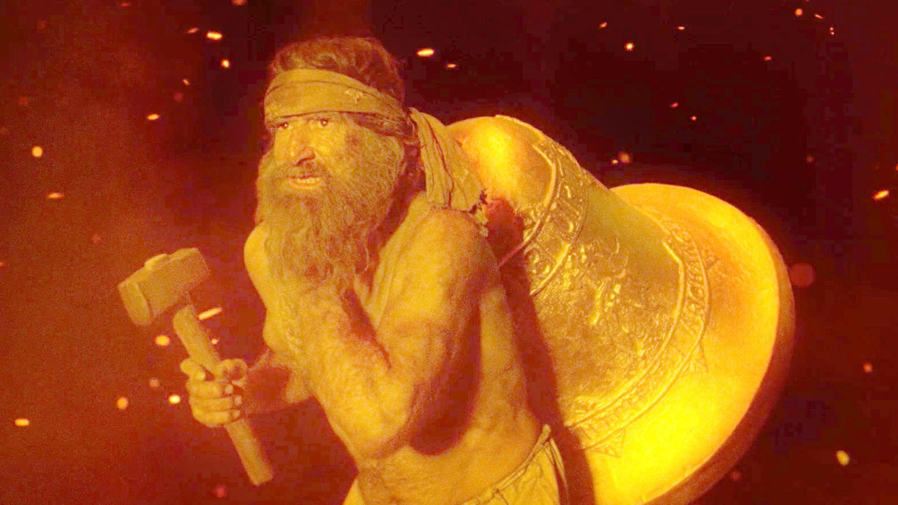"""男子背着一口金钟,独自闯入地狱,竟然成为了恶魔的""""克星""""!速看奇幻电影《地狱铁匠》"""