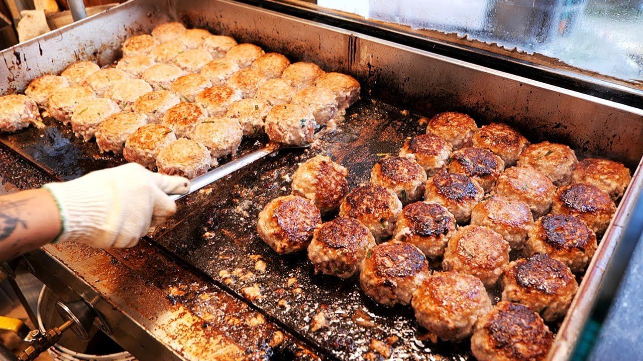 韩国地道肉饼铺,鲜肉包畅销十几年 !货真价实,个大量足现吃现包,饭点排队!