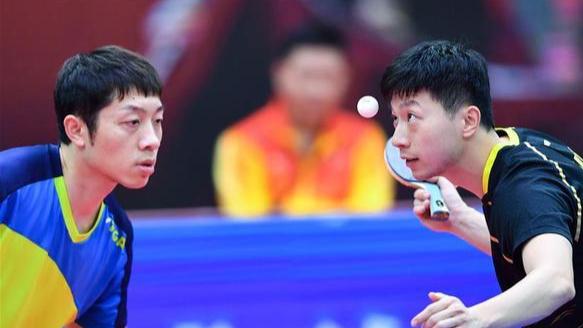 【2020全锦赛】马龙、许昕赢得全锦赛双打冠军