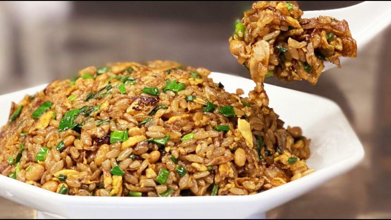 大蒜纳豆炒饭怎么做才好吃?日本大厨手把手教你做,最简单的纳豆蛋炒饭做出美味!