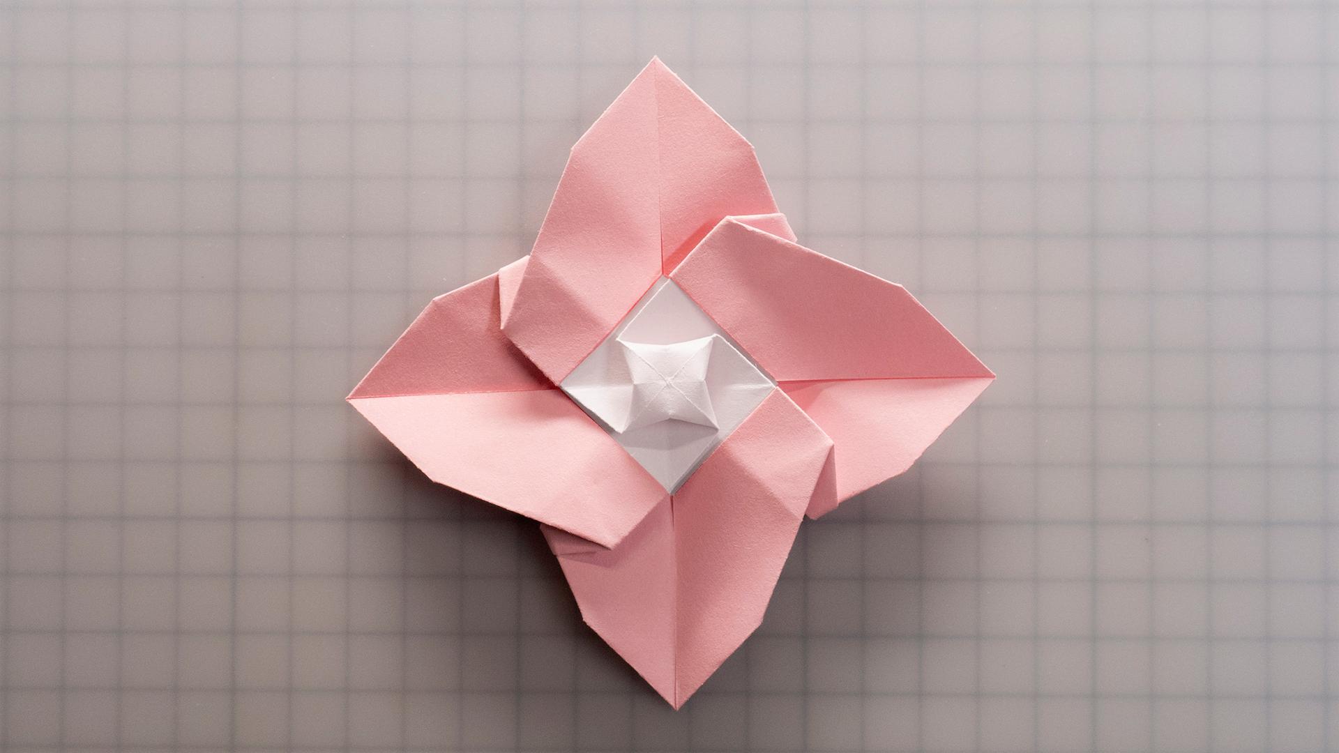 【折纸】仅凭一个玫瑰基本型,也能整出花儿来,折个水仙花