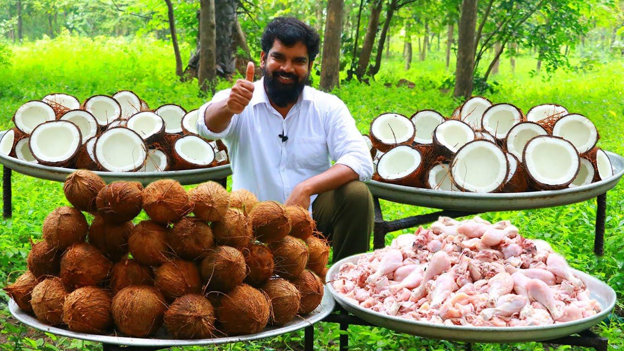 印度三哥示范如何正确吃椰子肉!