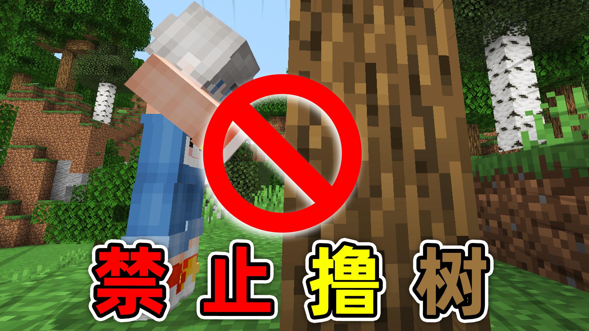 我的世界:空手撸不了树?还原现实生活的超真实玩法,困难开局!