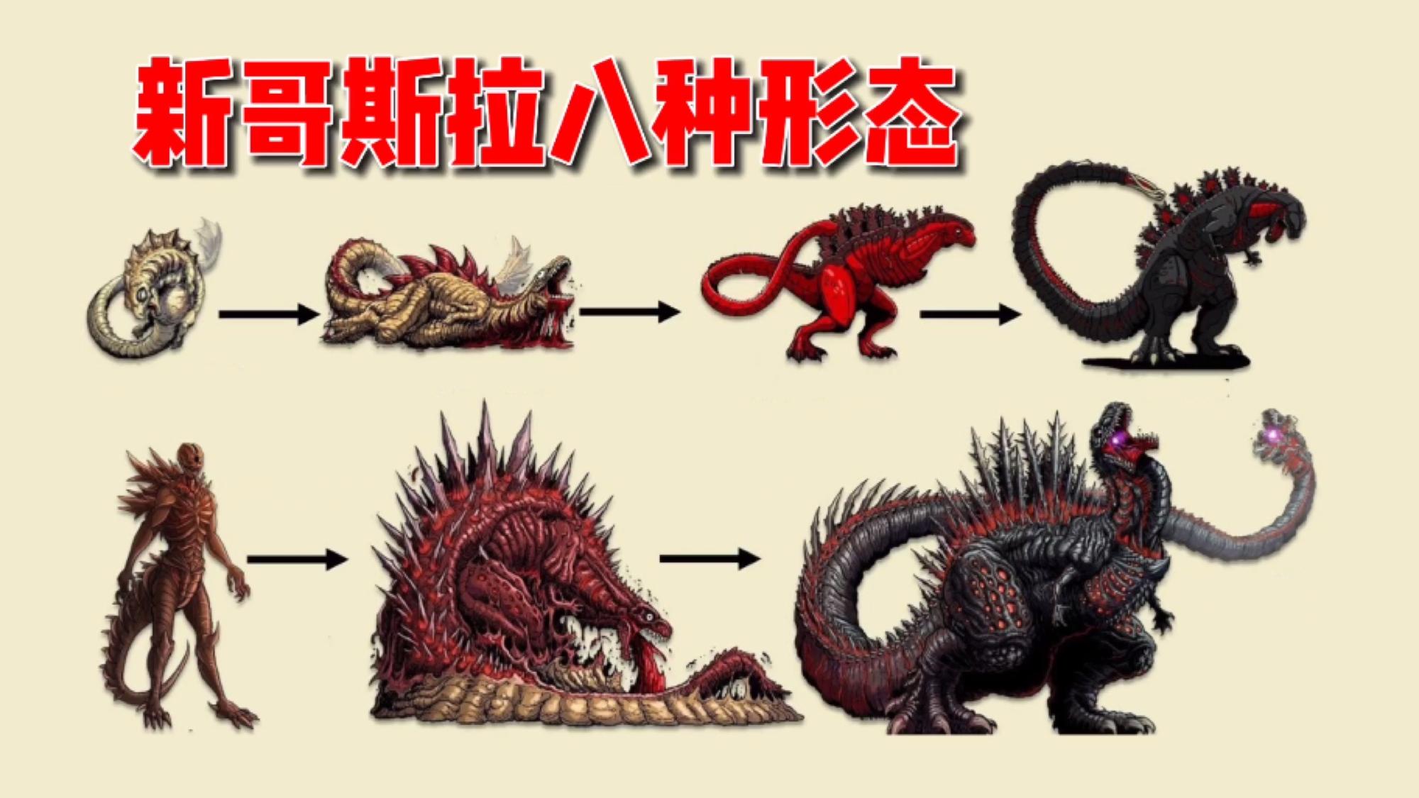 新哥斯拉解读,8种形态能到达宇宙永生,拥有6大能力的经典怪兽