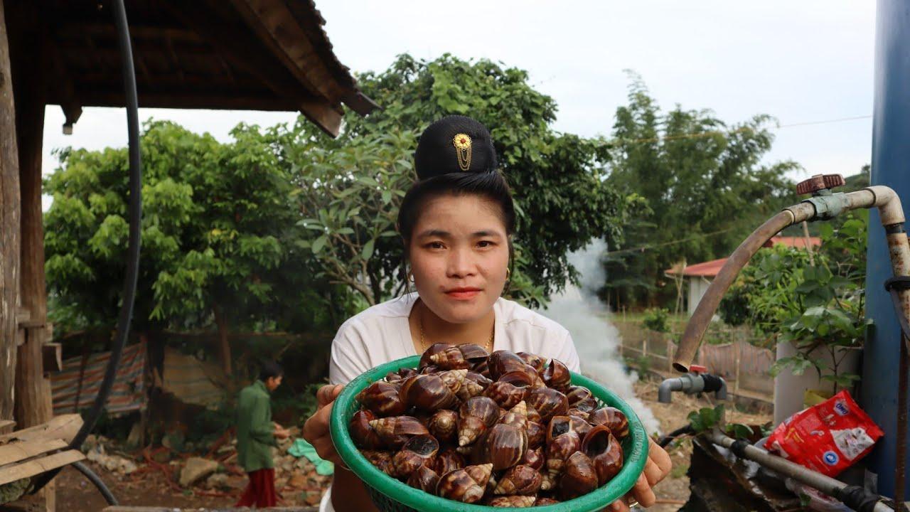 看看越南人如何吃蜗牛的!一盘蜗牛吃出了海鲜大餐的感觉!