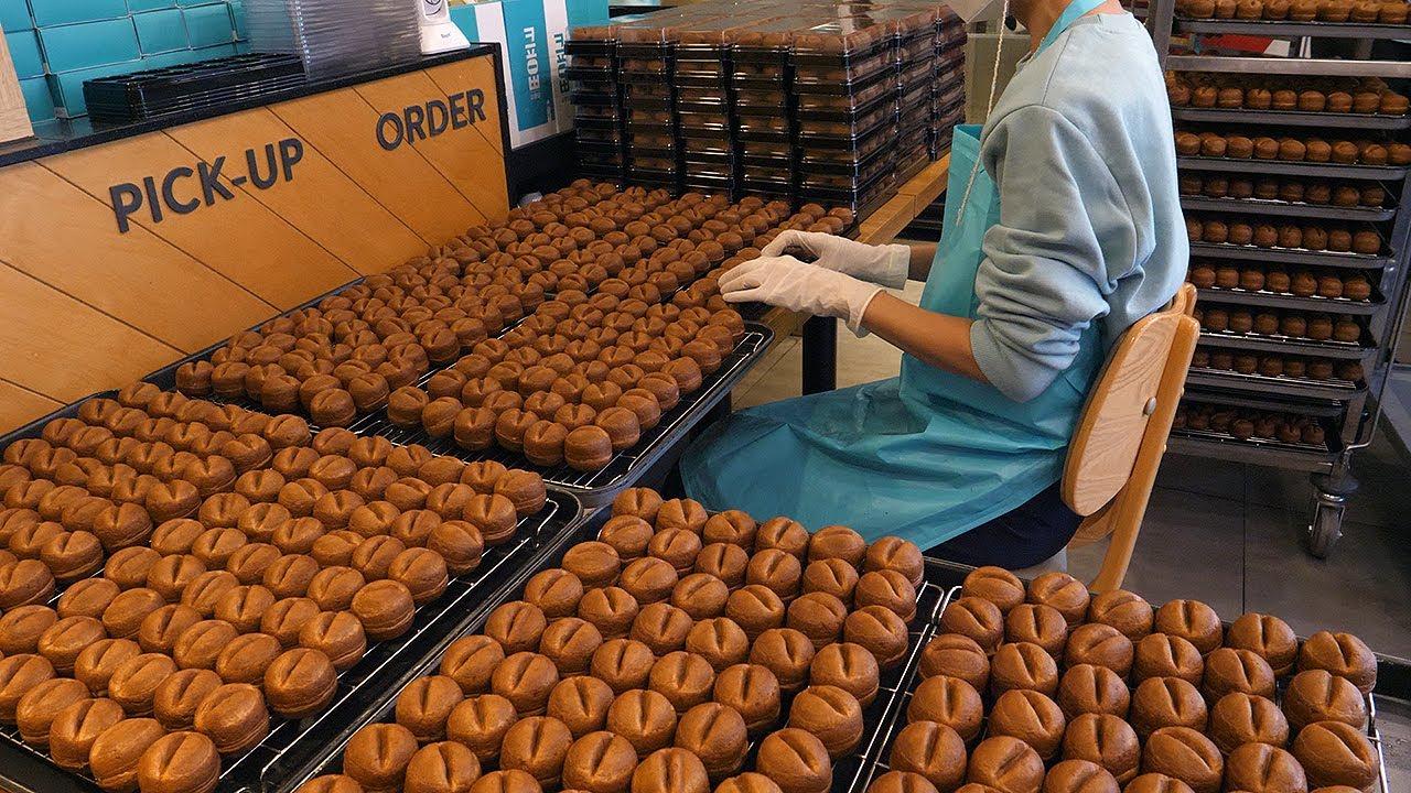 咖啡豆面包 - 韩国街边小吃