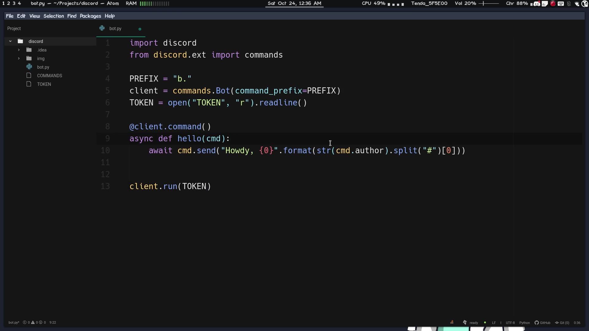 【1024程序员节】如何写一个自己的discord机器人-python-自制