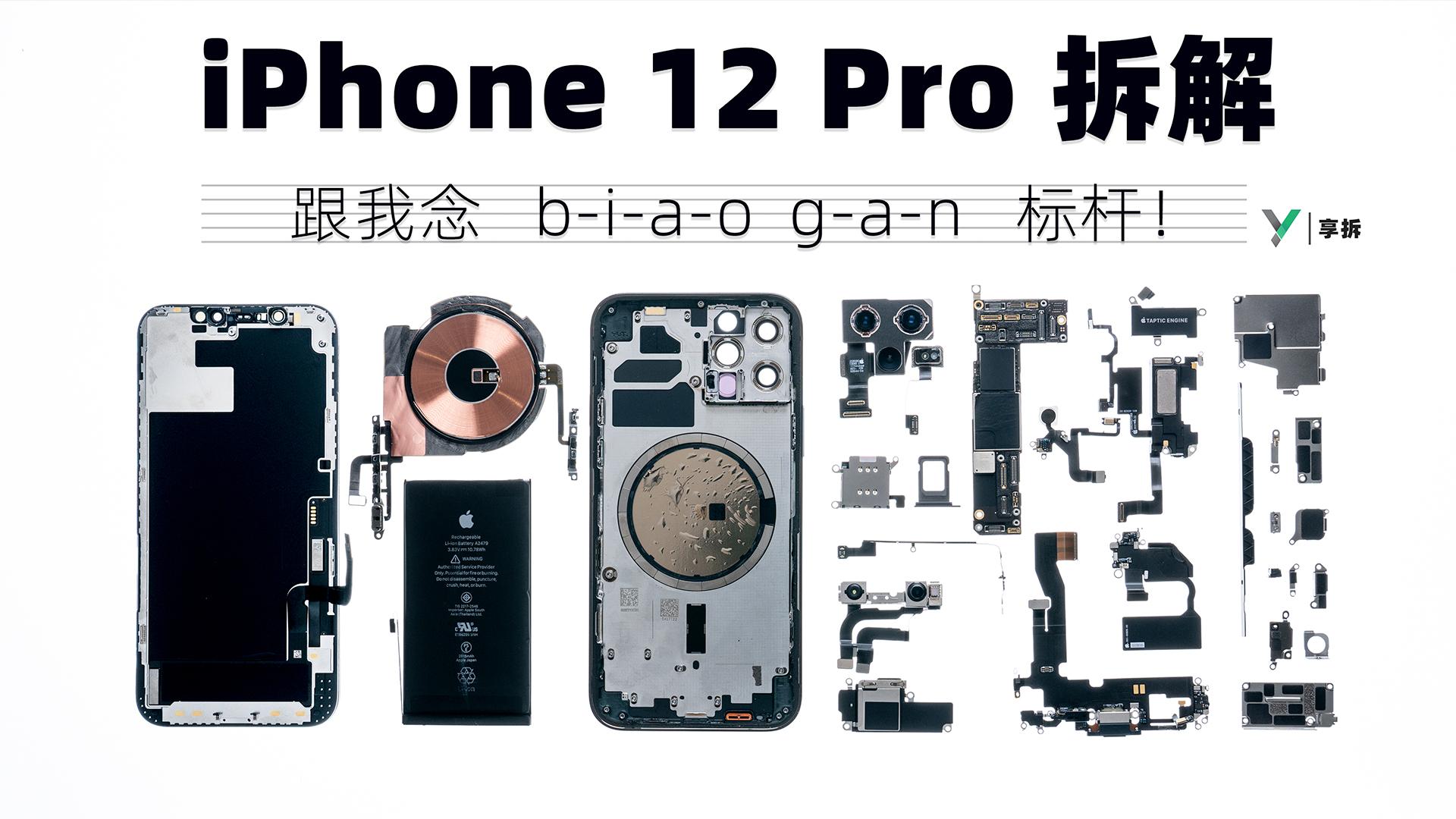 【享拆】iPhone 12 Pro拆解: 来,跟我念:b-i-a-o g-a-n,标杆!