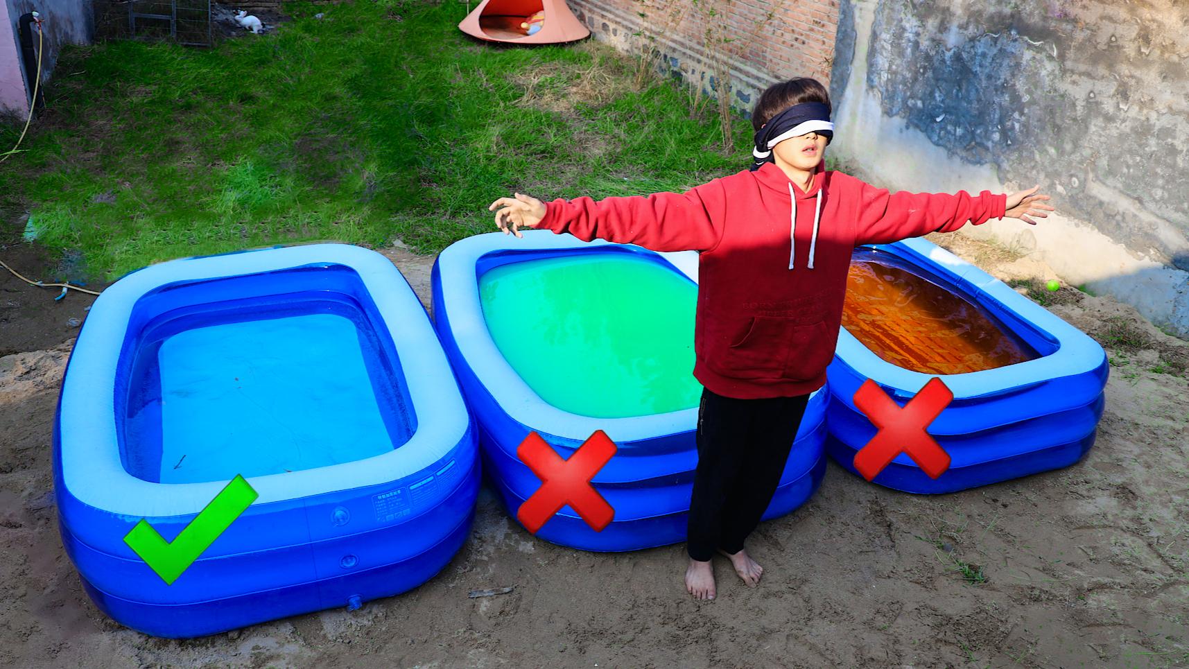 不要选错挑战!跳进花露水泳池是什么体验?