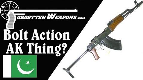 【被遗忘的武器/双语】开伯尔山口手工制造的AK外形栓动步枪