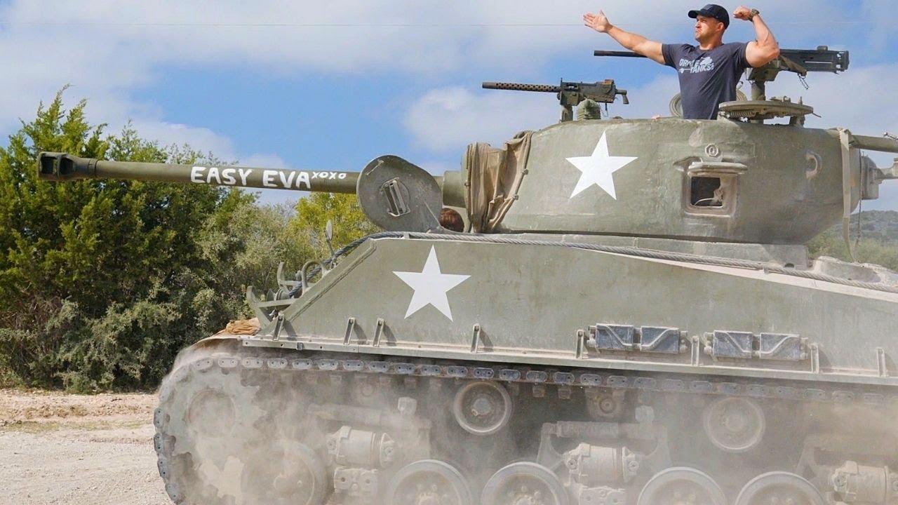 【肯塔基/中文】我爱坦克 试射谢尔曼 152毫米加榴炮