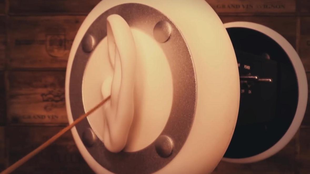 【刺激耳膜】两耳同时音压掏耳【助眠哄睡声控触发音口腔音】
